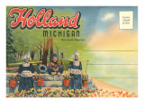 Postcard Folder  Scene from Holland  Michigan