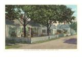 Siasconset  Street in Nantucket  Massachusetts