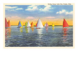 Colorful Sailboats  Lake Erie  Toledo  Ohio