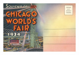 Postcard Folder  Souvenir of Chicago World's Fair