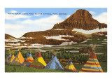 Indian Tepees  Glacier Park  Montana