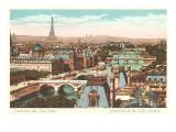 Panorama of Eight Bridges over the Seine  Paris