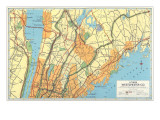 Map of Lower Westchester County  New York