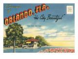 Postcard Folder  Souvenir of Orlando  Florida