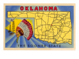 Oklahoma  The Sooner State  Map