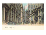 Colorized Wall Street Scene  New York City