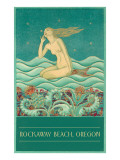 Art Deco Mermaid  Rockaway Beach  Oregon