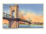 Suspension Bridge  Cincinnati  Ohio