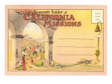 Postcard Folder  Souvenir of California Missions