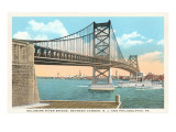 Delaware River Bridge  Philadelphia  Pennsylvania