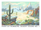 Paint by Numbers  Desert Scene