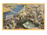 Aerial View of Columbus  Ohio