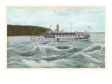 Steamship in Rapids on St Lawrence River  New York