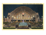 Cincinnati Union Terminal at Night  Cincinnati  Ohio