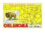 The Sooner State  Oklahoma  Map