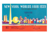 Souvenir Ticket to New York World's Fair  1939