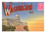 Postcard Folder  Washington  DC