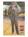Will Rogers  Standing by Plane