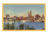 Skyline and Ohio River  Cincinnati  Ohio