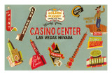 Casino Center  Array of Signs  Nevada