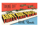 Taking Off  Army Air Base  Reno  Nevada
