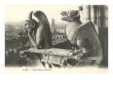 Gargoyles at Notre Dame  Paris