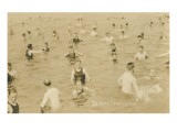 Bathers in Lake Champlain  New York State