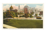 Logan Square  Skyline  Philadelphia  Pennsylvania