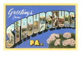 Greetings from Stroudsburg  Pennsylvania