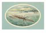 Vintage Rowing Crew Illustration