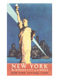 Statue of Liberty Travel Poster