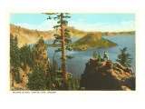 Wizard Island  Crater Lake  Oregon