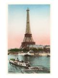 Eiffel Tower and Seine  Paris