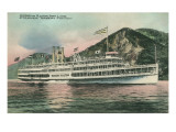 Robert Fulton Steamer on the Hudson River