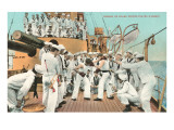 Sailors' Boxing Match On Board Ship
