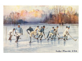 Old Time Hockey on Lake Placid  New York