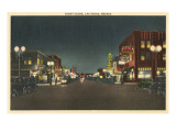 Vintage Night Scene  Las Vegas  Nevada