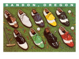 Golf Shoes on Putting Green  Bandon  Oregon