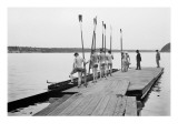 Rowers on Dock
