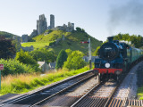 UK  England  Dorset  Corfe Castle and Station on the Swanage Railway