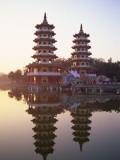 Taiwan  Kaohsiung  Lotus Lake  Dragon and Tiger Pagodas
