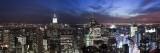 USA  New York City  Empire State Building and Lower Manhattan Skyline Panoramic
