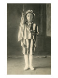 Young Boy in Flag Suit