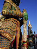 Thailand  Bangkok  Wat Arun  Temple of Dawn  Temple Guardian Statue