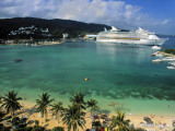 Cruise Ship and Turtle Beach  Ocho Rios  Jamaica