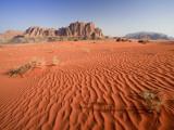 Desert Sands  Wadi Rum Desert and Jebel Qattar Mountain  Jordan