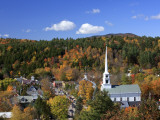 USA  New England  Vermont  Stowe in Autumn /Fall