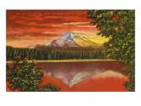 Mt Hood at Sunrise  Lost Lake  Oregon