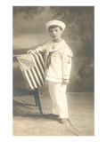 Sailor Boy with Flag