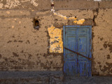 Blue Door  Luxor Town  Egypt
